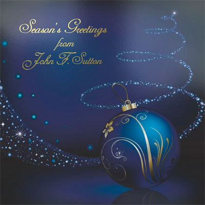 midnight blue christmas card