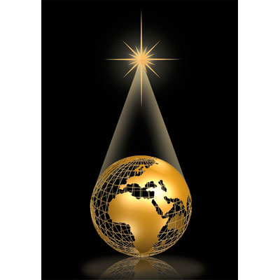 golden globe christmas card