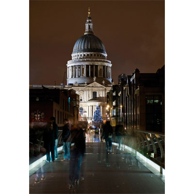 st paul's at christmas christmas card