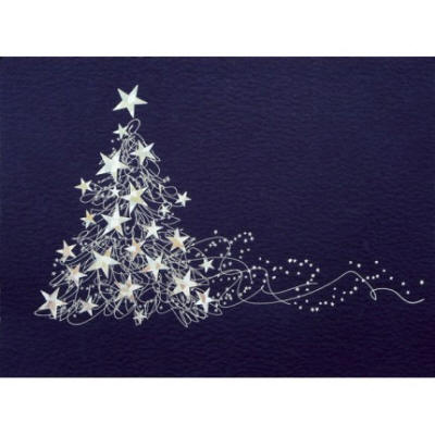 dazzling star tree christmas card