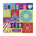 christmas patchwork personalised christmas card