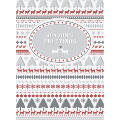 scandinavian christmas personalised christmas card