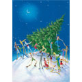 world tree personalised christmas card